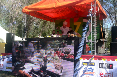Шеф-повар телеканала «Еда» Владимир Павлов – на фестивале «Рыба моя» в 32 квартале Тольятти.